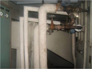 Asbestos inspection- pipe lagging